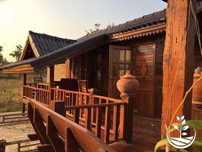 location touristique, thailande, bungalow en bois