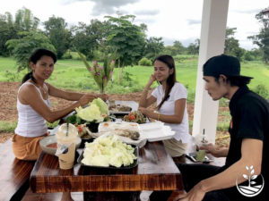 Wwoofing en thailande, faire du volontariat en thailande, faire du bénévolat en thailande, woofing thailande, thai wwoof, petit déjeuner thai