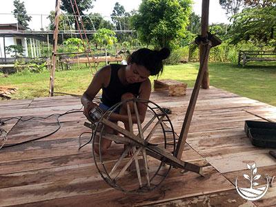 tissage de la soie en thailande