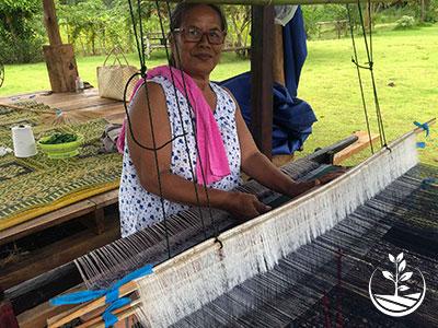 métier à tisser, apprendre le tissage soie coton