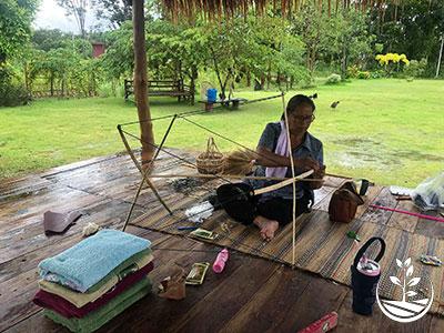 apprendre le tissage soie coton