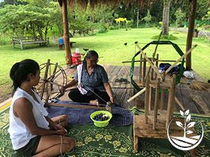 métiers à tisser en Thaïlande; la soie thai