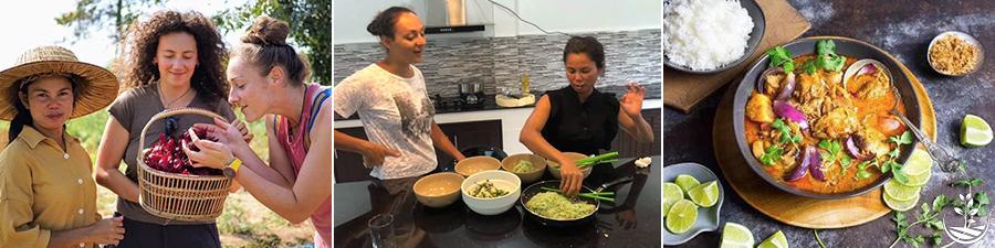 cours de cuisine thailandaise, apprendre à cuisiner thaï, les plats thaïs