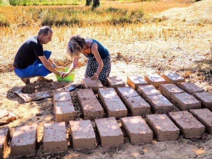 Manufacture of our bricks for natural construction