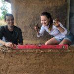 Construction avec briques adobe