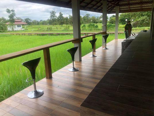 A countryside bar area ...