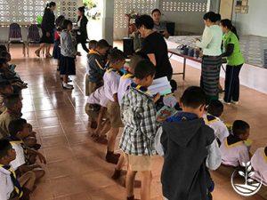 potager à l'école en thailande